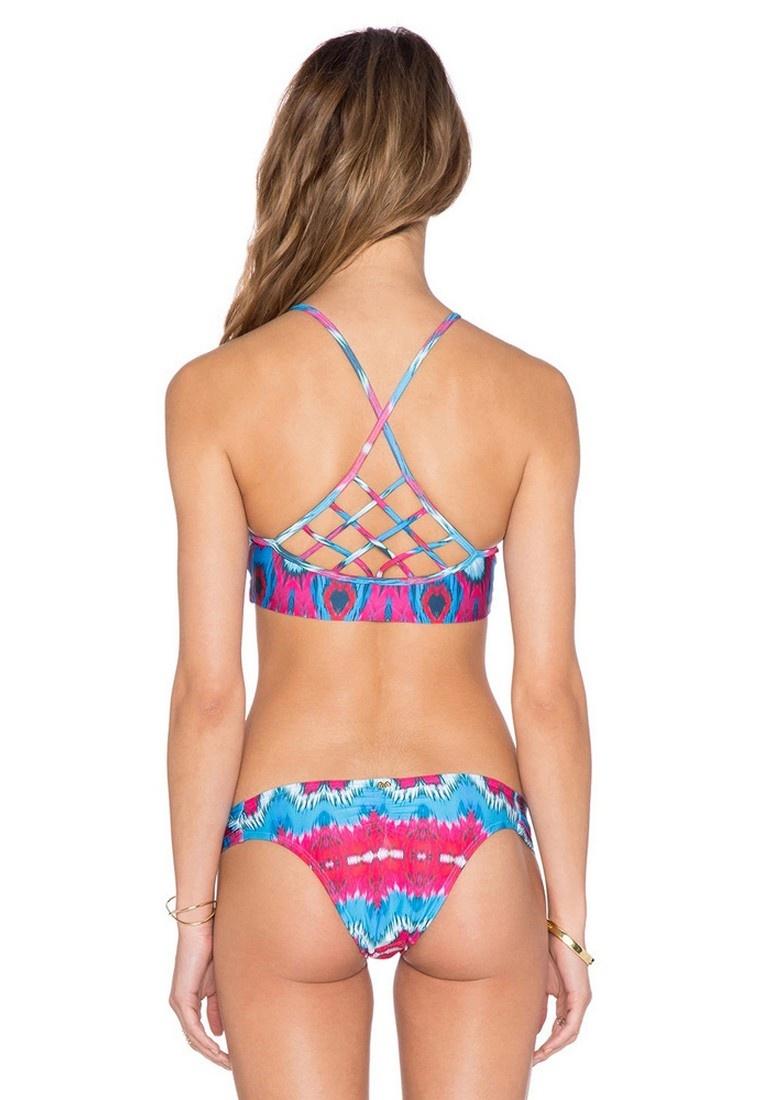 Pattern Geometric Bikini LYCKA multi LXY09432 Printed Lady Swimwear TqTtzF