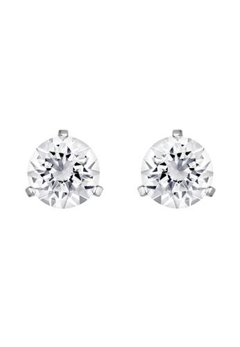Swarovski white Solitaire Pierced Earrings 92A9FAC0D468DEGS_1