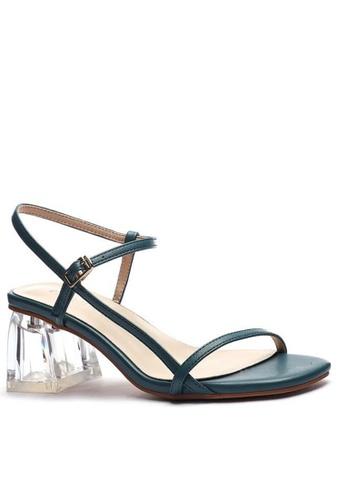 Twenty Eight Shoes 水晶踭橫帶涼鞋1801-6 219E6SH6664BD0GS_1