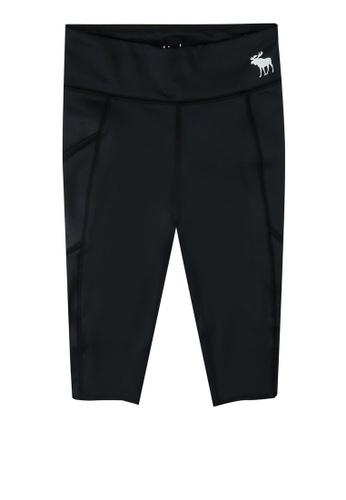 Abercrombie & Fitch black Crop Active Leggings AF9E8KAE48C547GS_1