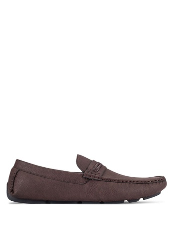 UniqTee brown Front Braided Strap Loafers UN097SH0RFVVMY_1