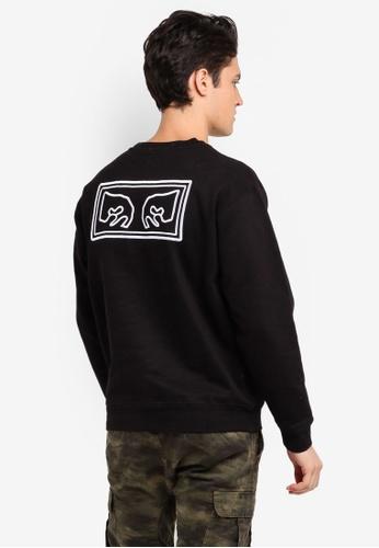 OBEY black Obey Eyes Crew Sweatshirt 6E962AA9E9456EGS_1