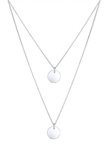 Elli Germany silver Perhiasan Wanita Perak Asli - Silver Kalung Layer Circle Trend EL948AC65XUOID_1