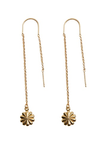 Mango gold Flower Pendant Earrings DE029AC9B1F1DEGS_1