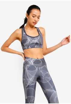 e6e7fe358d Reebok grey One Series Running Hero Racer Sports Bra 6EFE0US1404693GS 1