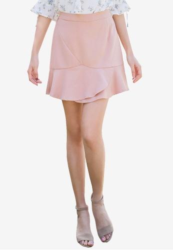 Tokichoi pink Frill Detail Skirt E0FCBAA5810F60GS_1