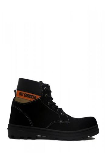 Cut Engineer black Cut Engineer Xone Iron Safety Boots Suede Leather Black 0BA46SHF2A8583GS_1