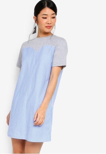 Something Borrowed grey Bustier Shift Tee Dress 0A34FAA9B3A492GS_1