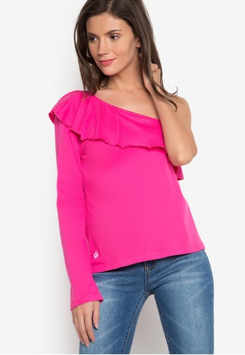 Verve Street pink Andrea Long Sleeves Top VE915AA13ATUPH_1