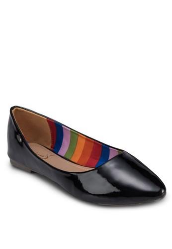 經典漆面尖頭平底鞋, esprit outlet女鞋, 芭蕾平底鞋