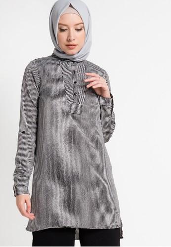 AZZAR black and white Johana Shirt AZ485AA16KMLID_1