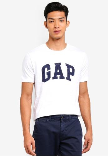 GAP white Logo Distress T-Shirt 28572AA15F820DGS_1