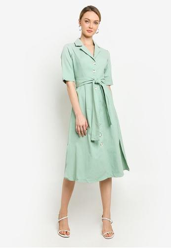 Willa green Vince Midi Dress DCAD0AA94B5DB5GS_1