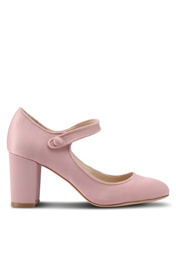 ZALORA 粉紅色 緞面瑪莉珍鞋 A7D91SH313F2DAGS_1