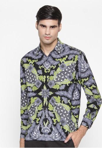 Waskito Kemeja Batik Semi Sutera - KB LE 0702 - Grey