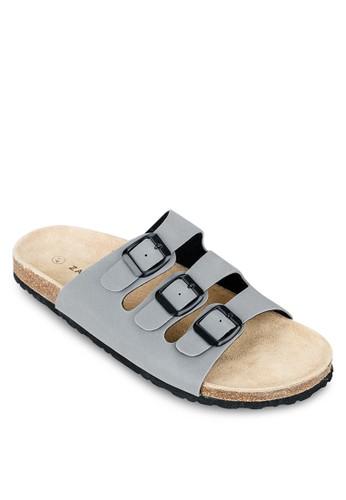 三zalora 心得扣環帶基本款拖鞋, 鞋, 鞋
