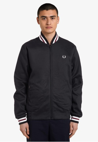 Fred Perry black J7322 - Made In England Bomber Jacket - (Black) 1FC47AA43EB19EGS_1