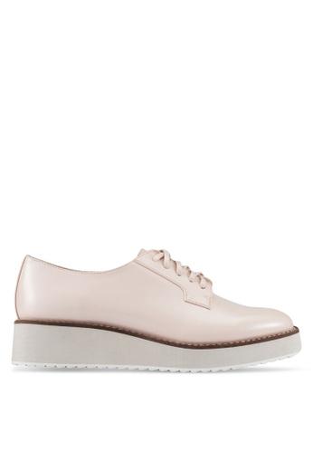 ZALORA beige Platform Derby Shoes 84107ZZFAF43D4GS_1