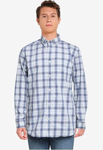 GAP blue Performance Perfect Shirt EE48CAA906B9CCGS_1