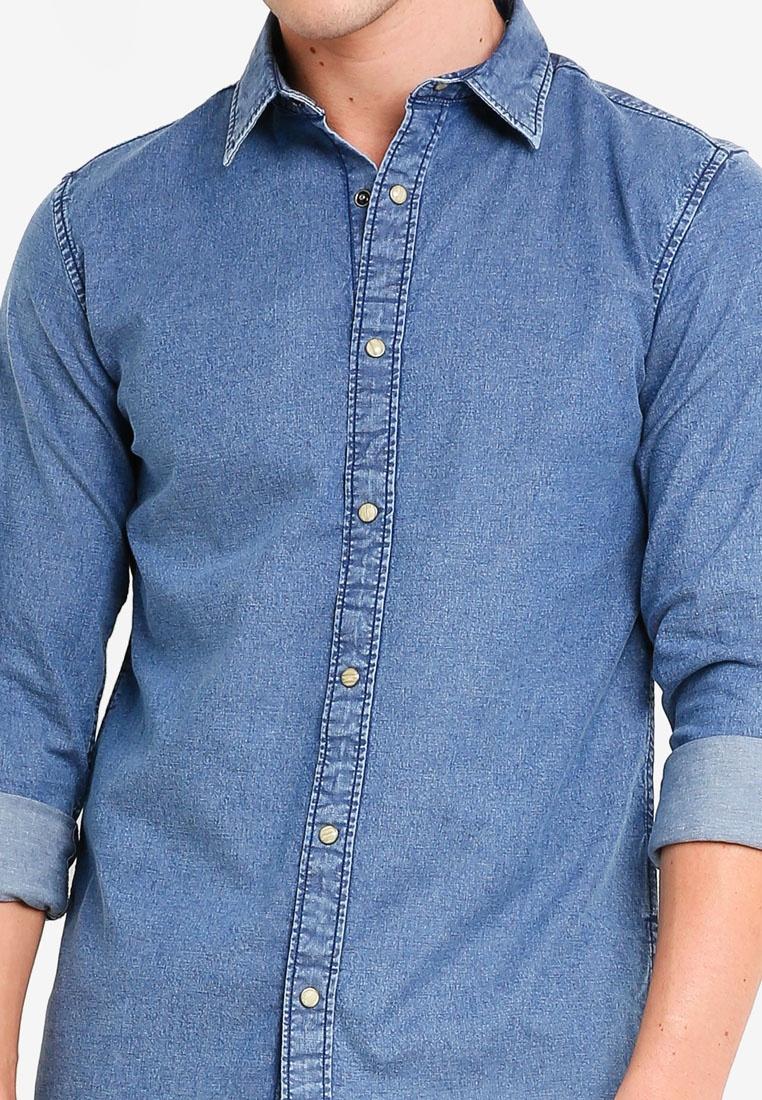 Light Denim Blue Luis Jones amp; Denim Shirt Jack Fit Super Slim 6Xxxn4qR7