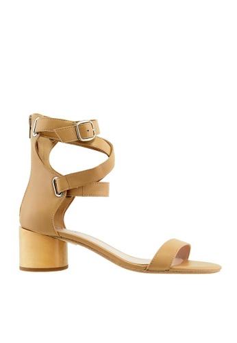 eq:iq brown eqSTELLA Ankle Strap Block Heel Sandals EQ351SH14XRHSG_1