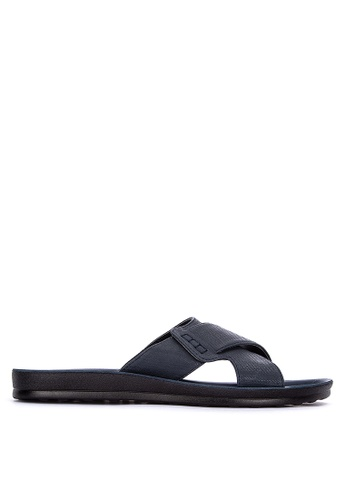H2Ocean blue Adon Cross Strap Sandals 0E697SH79E6822GS_1