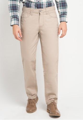 Watchout! Casual beige Five Pocket Basic Pants 225 WA972AA65AMSID_1