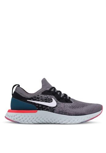 Nike multi and grey Nike Epic React Flyknit Shoes D63E7SH799F4D4GS_1