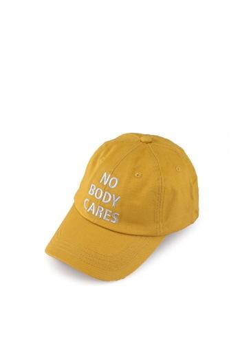 Fidelio yellow No Body Cares Cotton Cap 772E6ACADA4D89GS_1