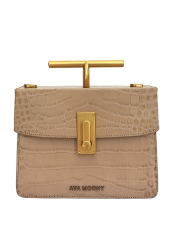 Ava Moony brown and beige Salma Bag 0A463ACF4A560BGS_1