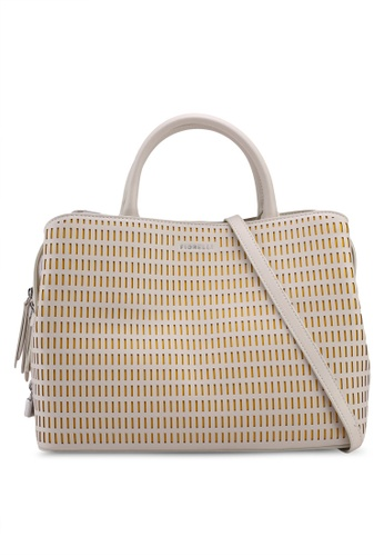 Fiorelli white and yellow Triple Compartment Top-Handle Bag BEE0FACB448EE2GS_1