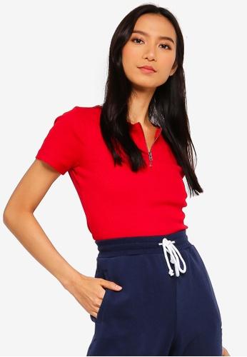 1ea2dea99bc Shop Hollister Short Sleeve Crop Top Online on ZALORA Philippines