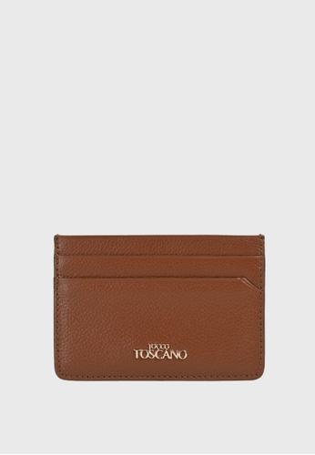 Tocco Toscano brown Lunar Slim Cardholder (Rust) 32F8CAC2F1EE35GS_1