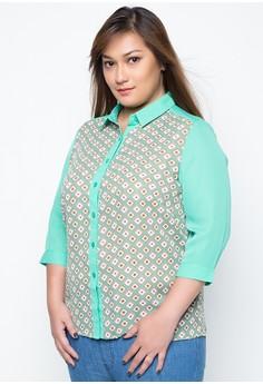 Plus Size Jigs 3/4 Sleeve Shirt
