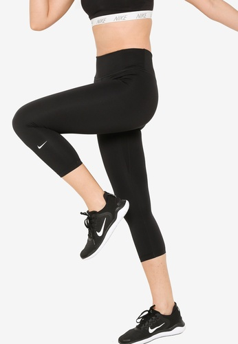Nike black One Mid-Rise Crop Tights 2.0 74A9AAAC485C54GS_1