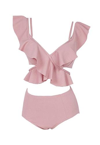 Twenty Eight Shoes pink VANSA Sexy Ruffle Bikini Swimsuit VCW-Sw1915 F5A8DUS8F1FA21GS_1