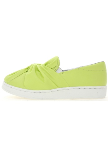 Maxstar Maxstar 202 Bow Synthetic Leather Classic Fashion Slip-on Sneakers US Women Size MA168SH76URVHK_1