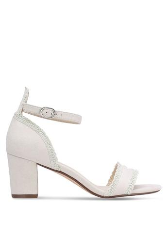 ZALORA beige Tiny Scallop Heels F77F0SHFE21938GS_1