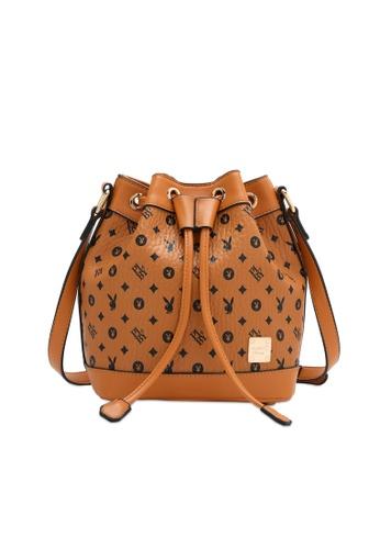 PLAYBOY BUNNY brown Women's Sling Bag / Shoulder Bag / Crossbody Bag 97383ACC52696DGS_1