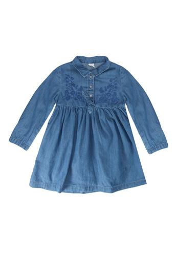 LC Waikiki blue Baby Girl's Jean Dress 56EBBKA966735AGS_1