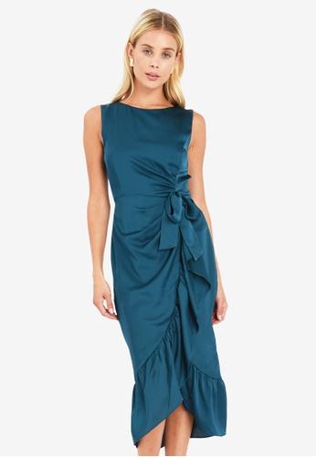 FORCAST green Veronica Gathered Dress 12C71AAD0BA25AGS_1