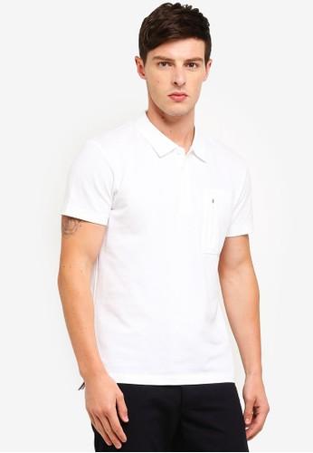 ESPRIT white Short Sleeve Polo Shirt 829F1AAA9FD0DEGS_1