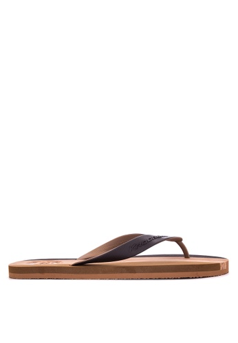Krooberg black and brown Hollywood II Flip Flops KR692SH0J33TPH_1