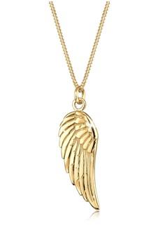 翅膀 925 純銀鍍金項鍊