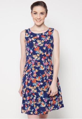 sophistix navy Shira Floral Print Dress SO829AA14QAFID_1