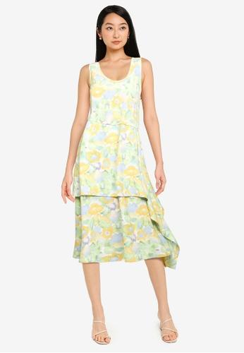 ZALORA BASICS multi Handkerchief Hem Dress 06820AAB731F12GS_1