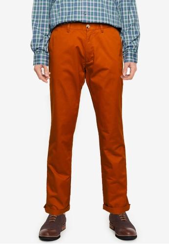 Ben Sherman brown Signature Slim Stretch Chino Trousers 3B0C4AADB8D1B7GS_1