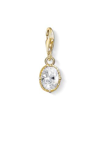 """THOMAS SABO gold Charm pendant """"white stone"""" 4FD60AC89D6DFDGS_1"""