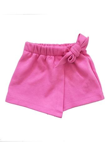 Vauva pink Vauva Kooala Girls Ribbon Shorts Pink 829CFKAD7D4992GS_1