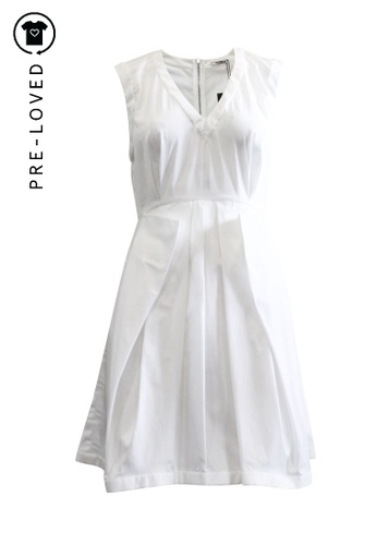Miu Miu white Pre-Loved miu miu White Sleeveless Dress D827BAA80DF2E6GS_1